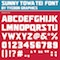 SUNNY TOWA TEI FONT by TYCOON GRAPHICS